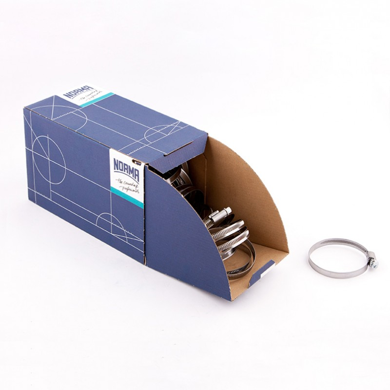 Хомут оцинкованный Norma (W1) 50-70 мм