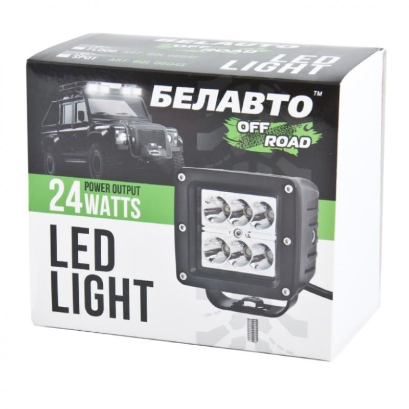 Доп LED фара BELAUTO BOL0604S 2400Лм (точечный)