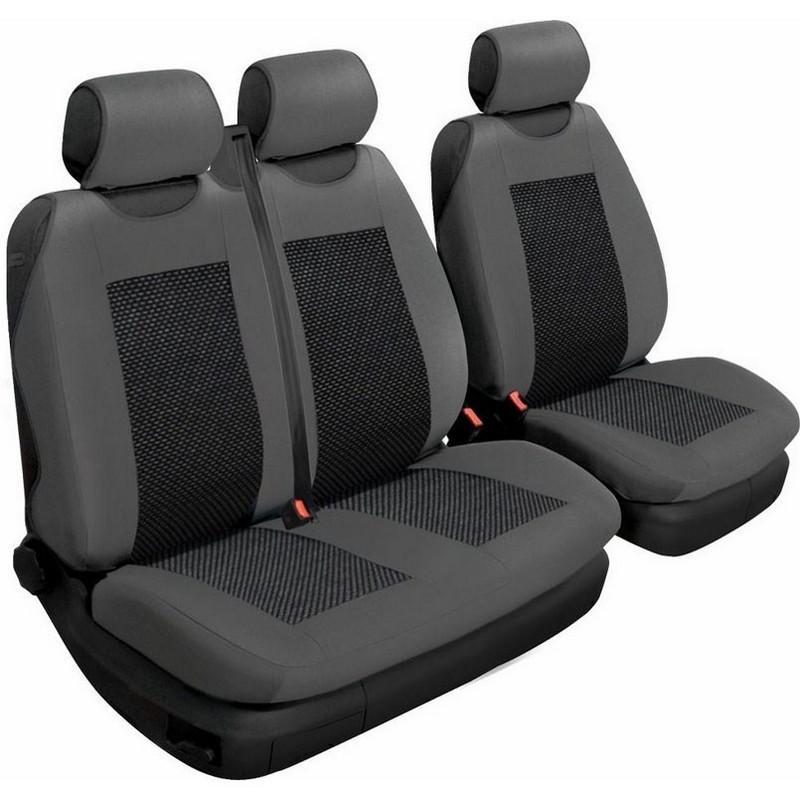 Авточехлы универсальные Beltex Comfort 2+1 Тип А графит без подголовников 53310