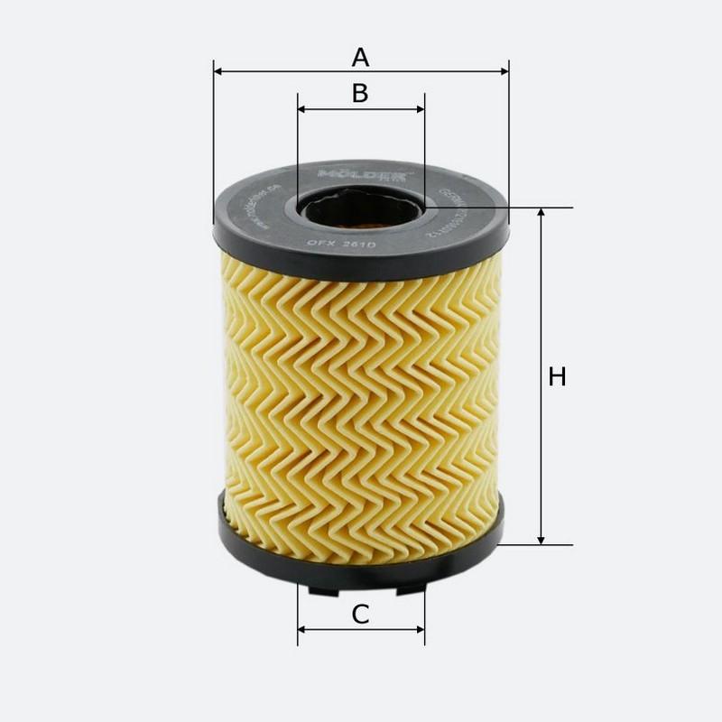 Масляный фильтр MOLDER аналог WL7408/OX371DE/HU7131X (OFX261D)
