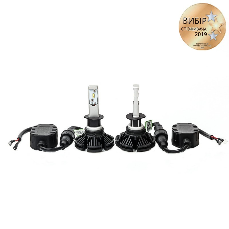 Светодиодные автолампы H1 CARLAMP Day Light Led для авто  6000 Lm 6000 K (DLH1)