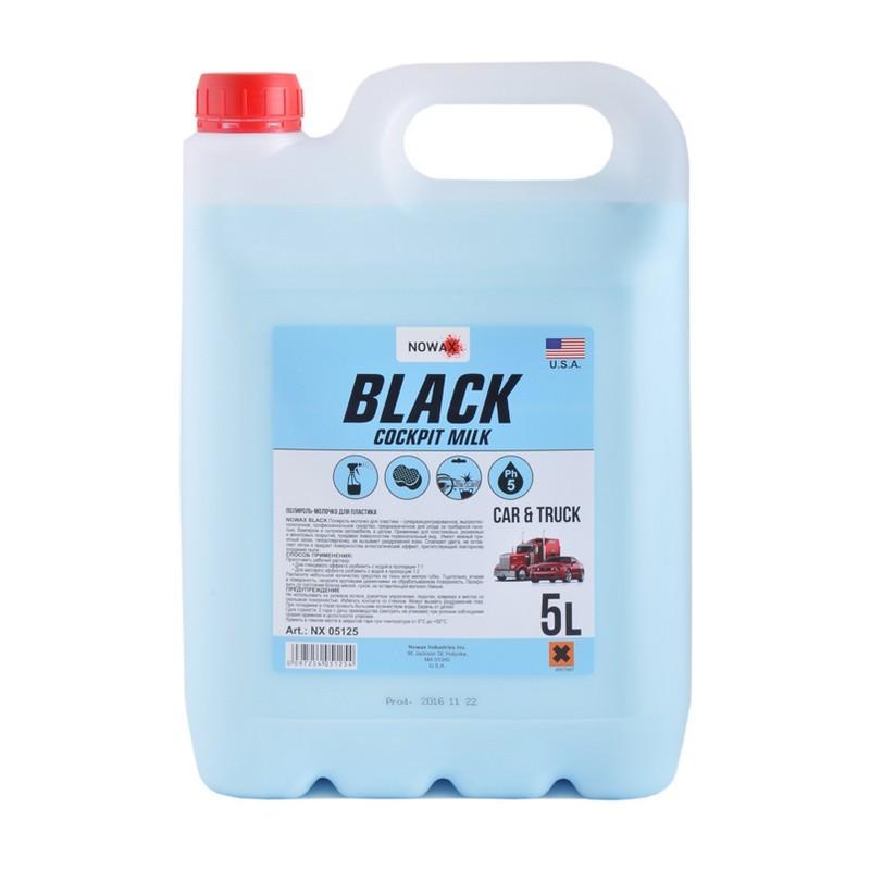 Полироль молочко для пластика 5 л концентрат NOWAX BLACK Cocpit Milk (NX05125)