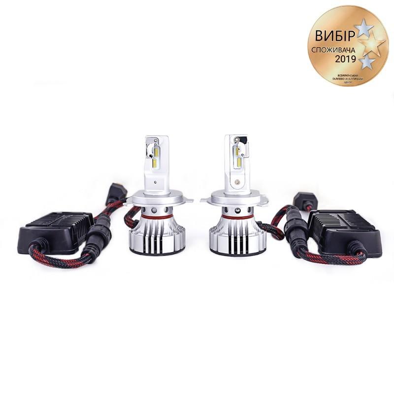 Светодиодные автолампы H4 CARLAMP Ultra Vision Led для авто 5000 Lm 6500 K (UV4)