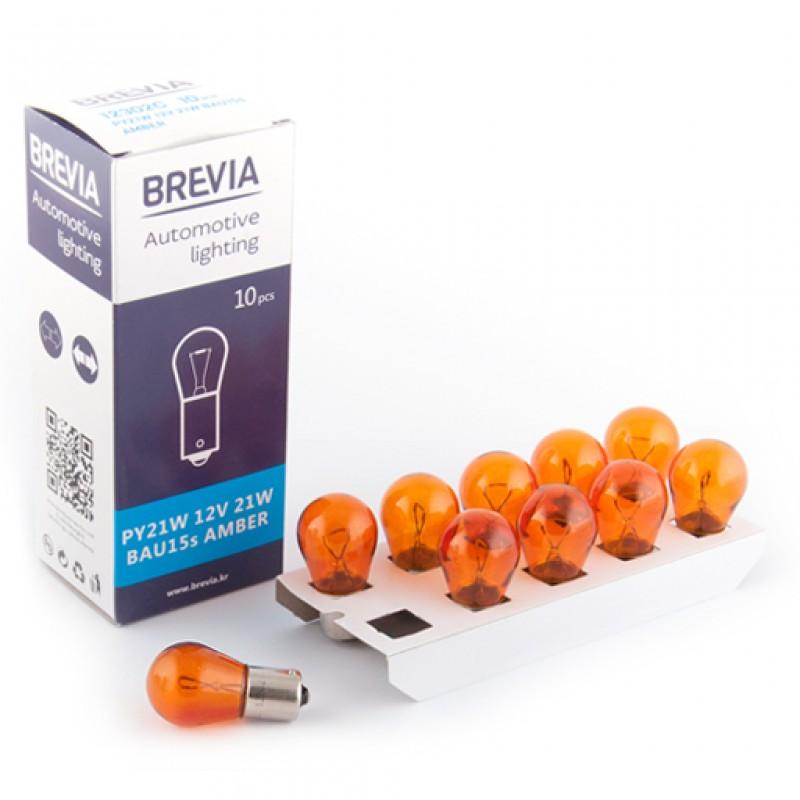 Галогеновая лампа Brevia PY21W Amber 12V 21W 12302C