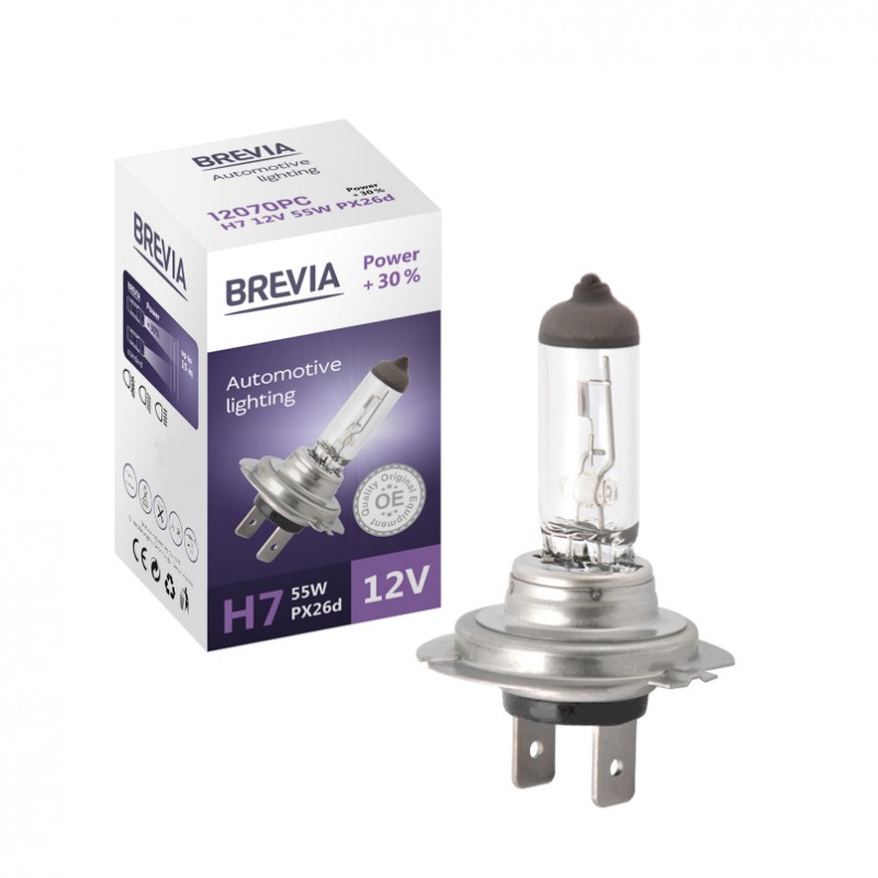 Галогенная лампа Brevia H7 12V +30%