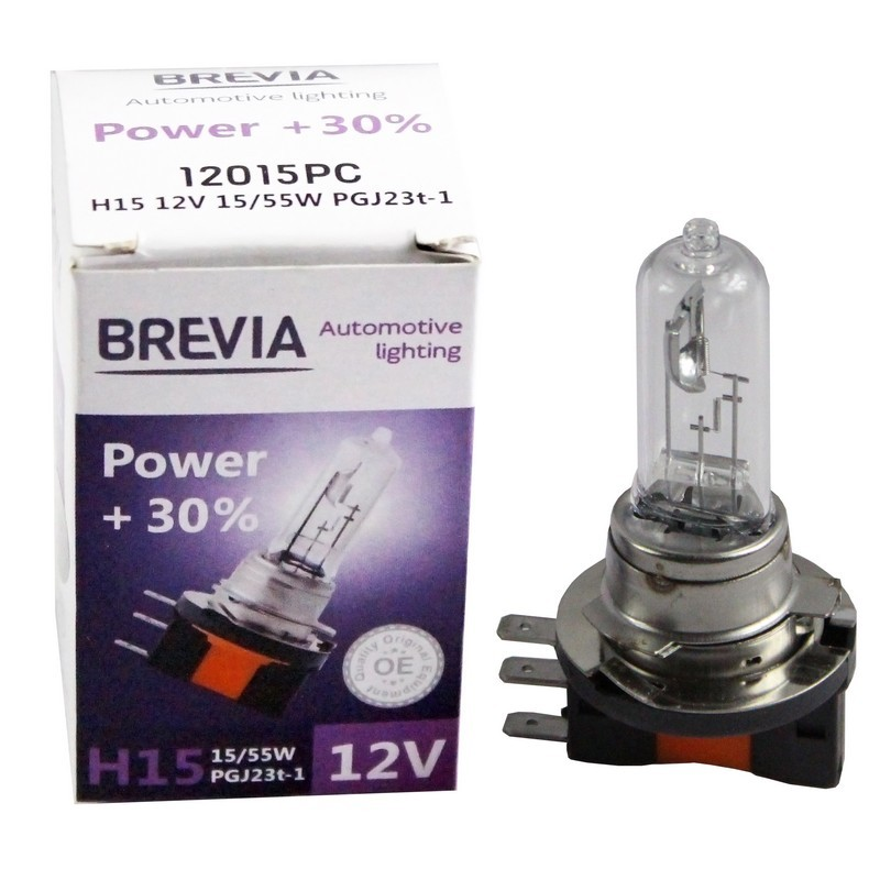 Галогеновая лампа BREVIA H15 POWER +30% 12015PC