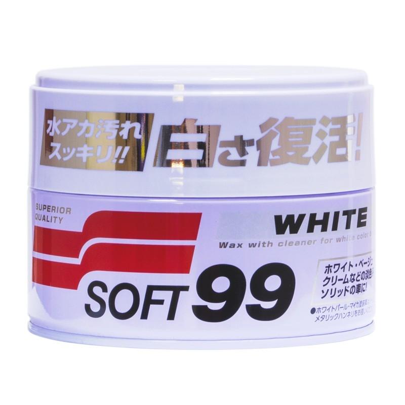 Полироль универсальная для белых автомобилей SOFT99 White Super Wax 00020