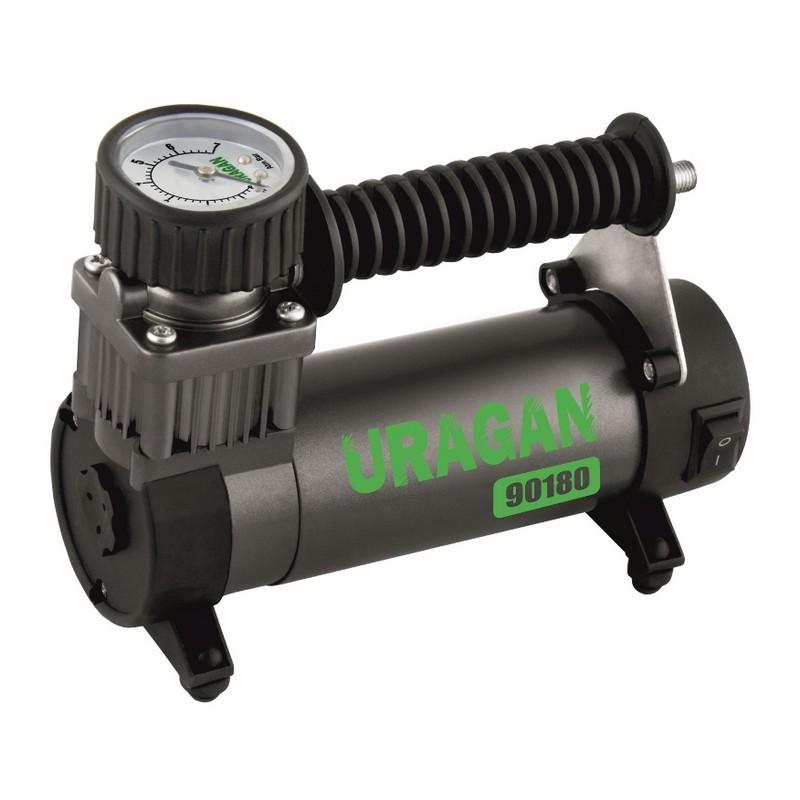 Автомобильный компрессор Uragan однопоршневой 35 л/мин 90180