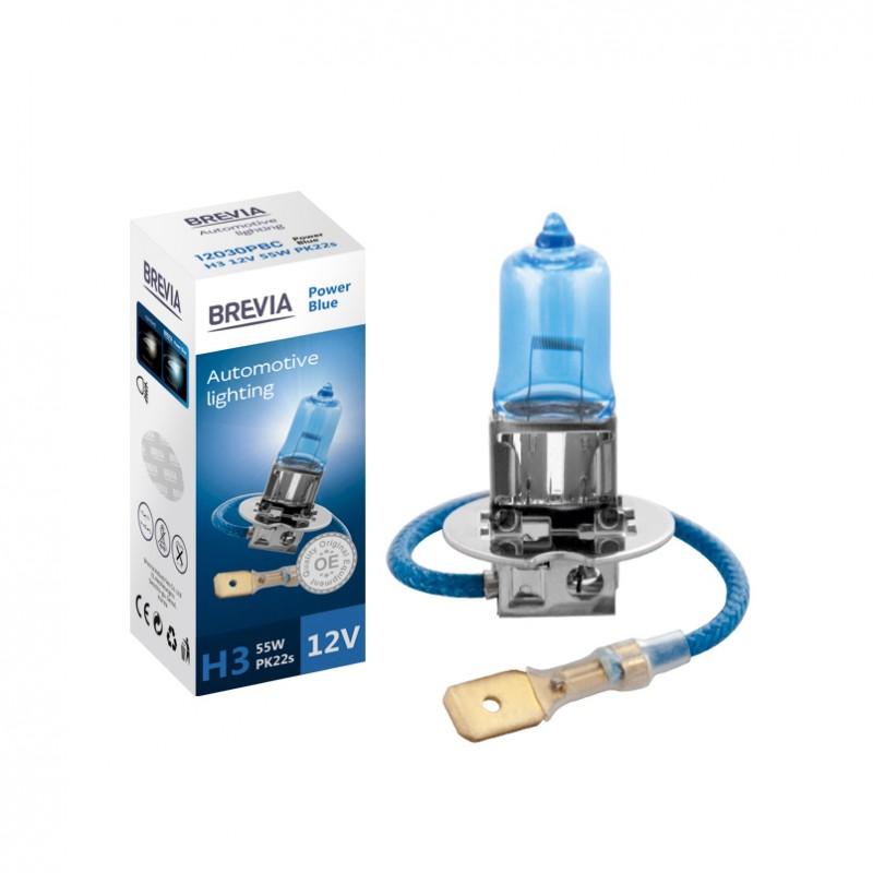 Галогеновая лампа Brevia H3 Power Blue 4200 K 12V 55W