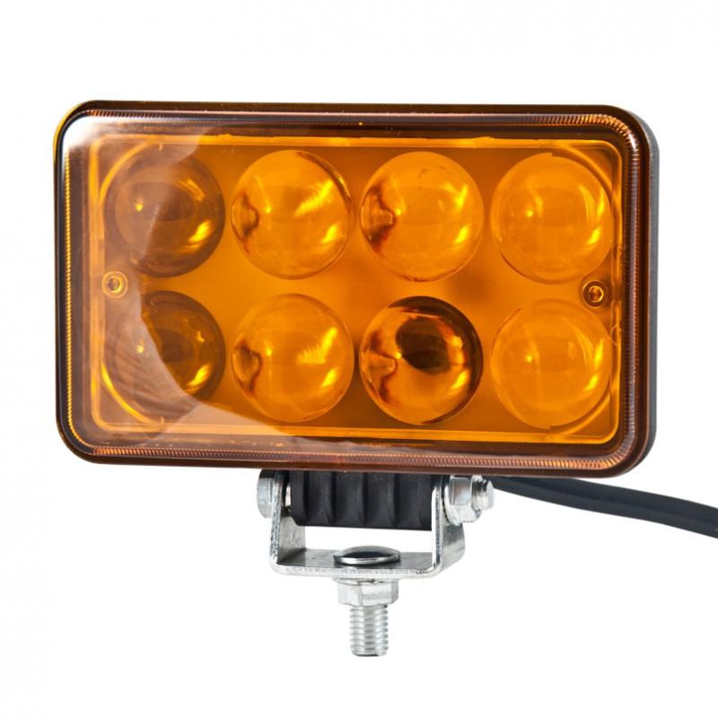 Доп LED фара BELAUTO BOL0803LA 1600Лм (точечный янтарный)