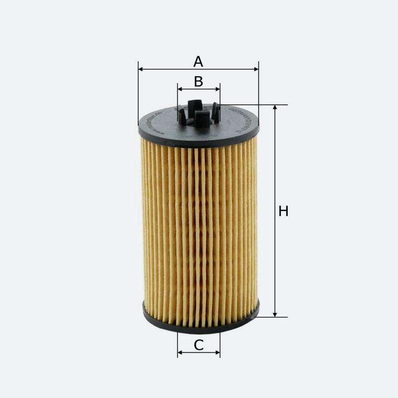 Масляный фильтр MOLDER аналог WL7422/OX401DE/HU6122X (OFX291D)