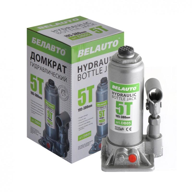 Домкрат бутылочный BELAUTO DB05P 5т 195-380мм