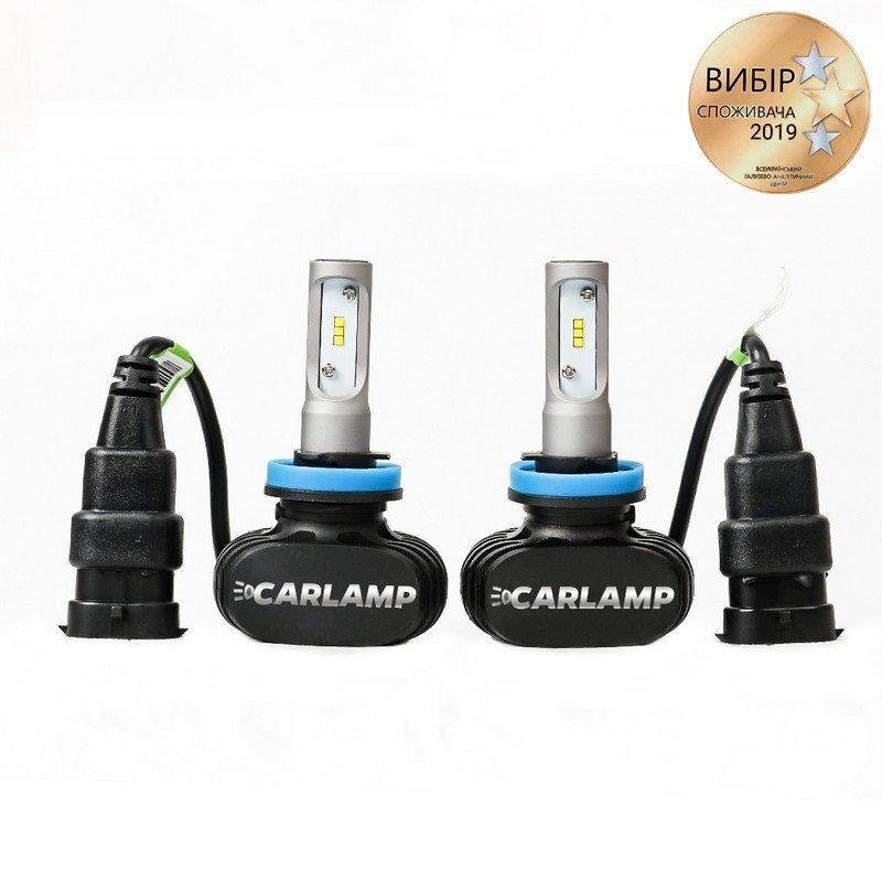Светодиодные автолампы H11 CARLAMP Night Vision Led для авто 4000 Lm 6000 K (NVH11)