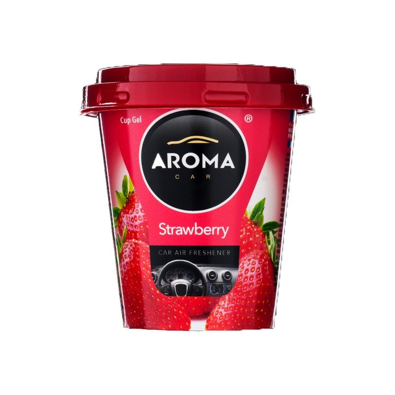 Ароматизатор Aroma Car Cup Gel Strawberry Клубника