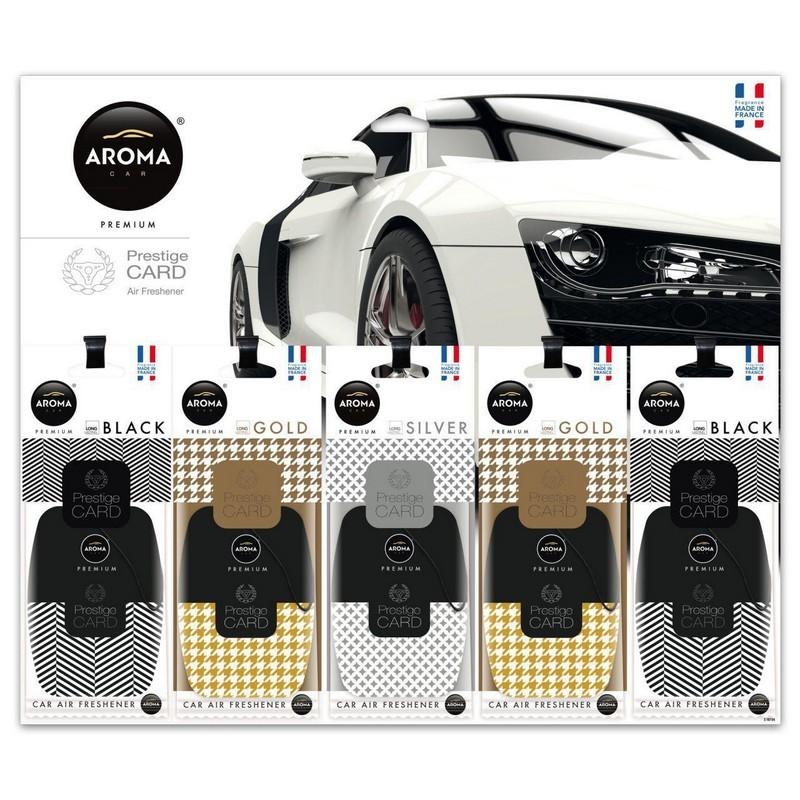 Планшет ароматизаторов Aroma Car Prestige Card микс (10 шт)