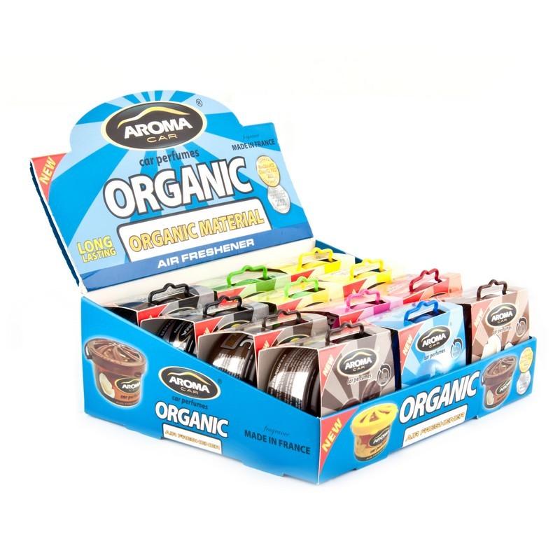 Стенд ароматизаторов Aroma Car Organic микс (12 шт)