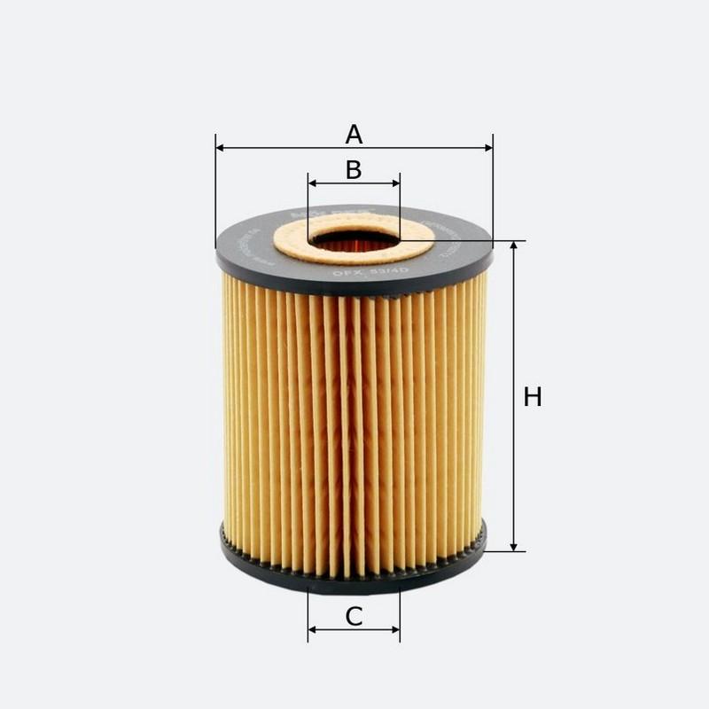 Масляный фильтр MOLDER аналог WL7294/OX163/DE/HU820X (OFX53/4D)