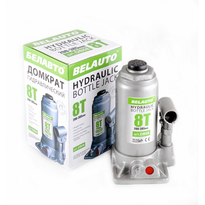 Домкрат бутылочный BELAUTO DB08 8т 200-385мм