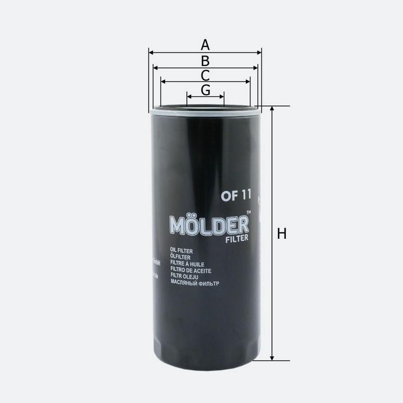 Масляный фильтр MOLDER аналог 51791/OC121/W11102211 (OF11)