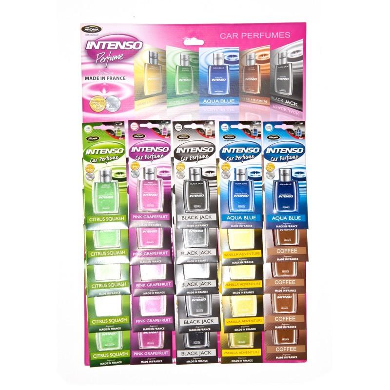 Планшет ароматизаторов Aroma Car Intenso Perfume микс (25 шт-17 шт)