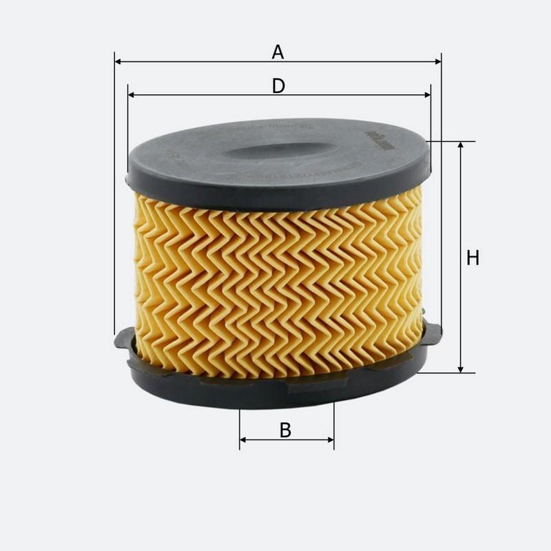Топливный фильтр MOLDER аналог WF8177/KX84DEco/PU1021X (KFX74D)