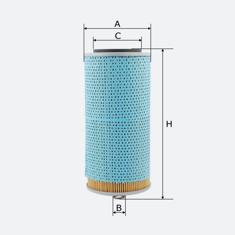 Масляный фильтр MOLDER аналог 57609E/OX69D/H121102X (OFX59D)