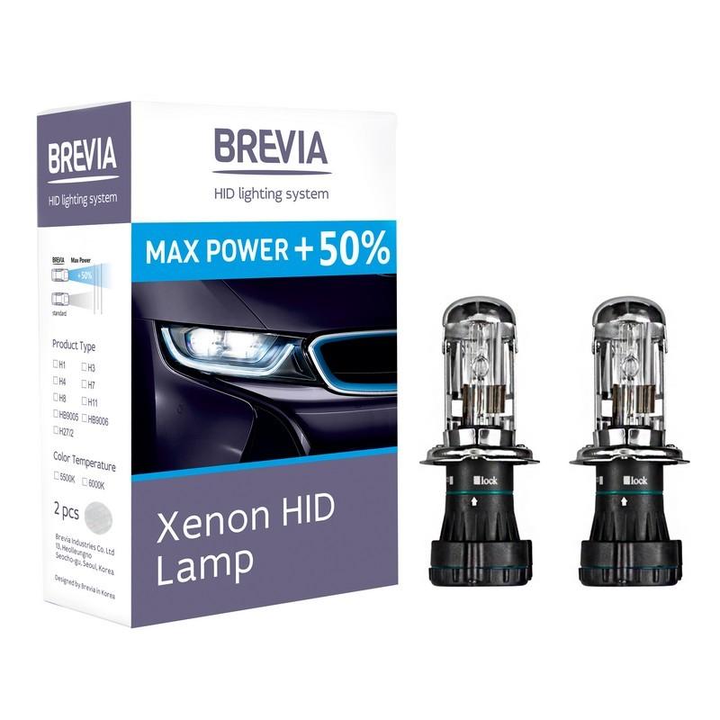 Ксеноновые лампы BREVIA H4+50% 5500K 12450MP