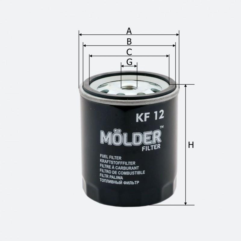 Топливный фильтр MOLDER аналог WF8047/KC22/WK716 (KF12)
