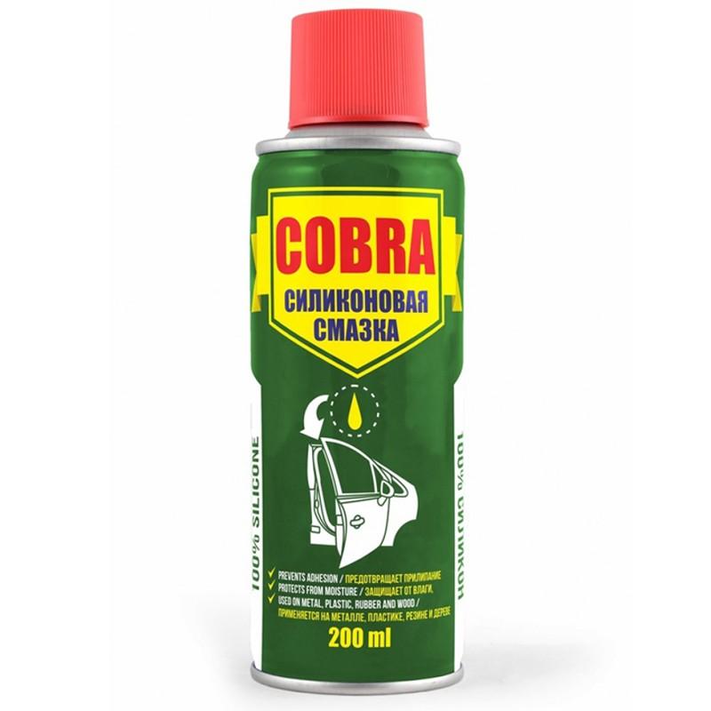 Универсальная силиконовая смазка (спрей) Cobra 200мл NX20200