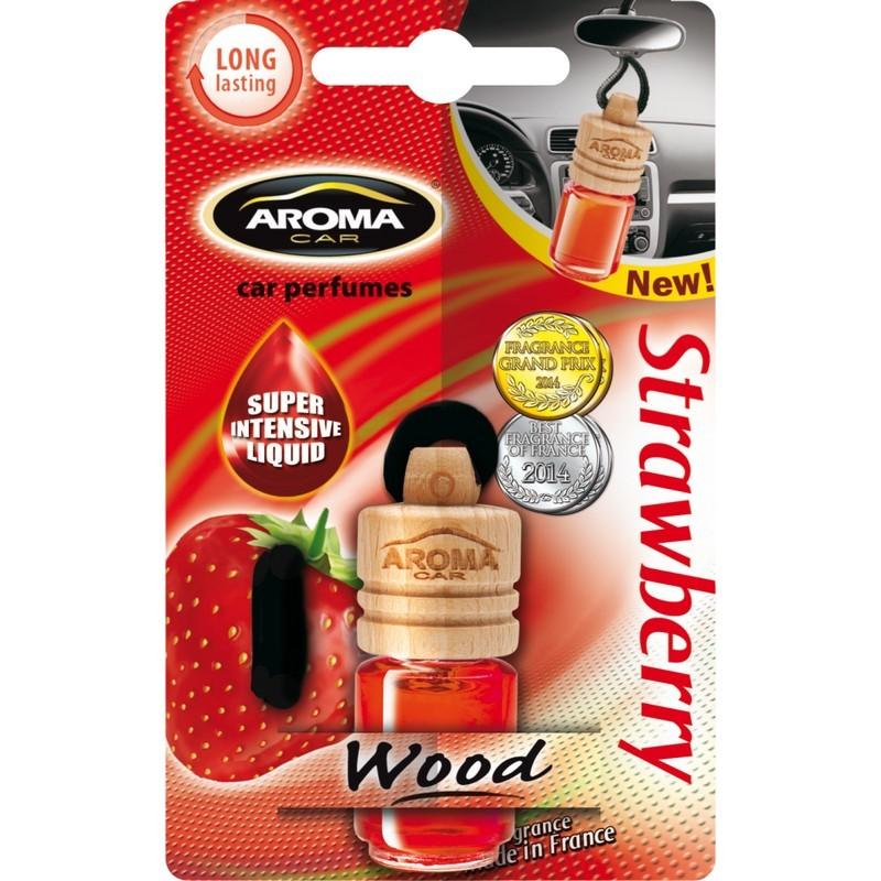 Ароматизатор Aroma Car Wood Strawberry Клубника
