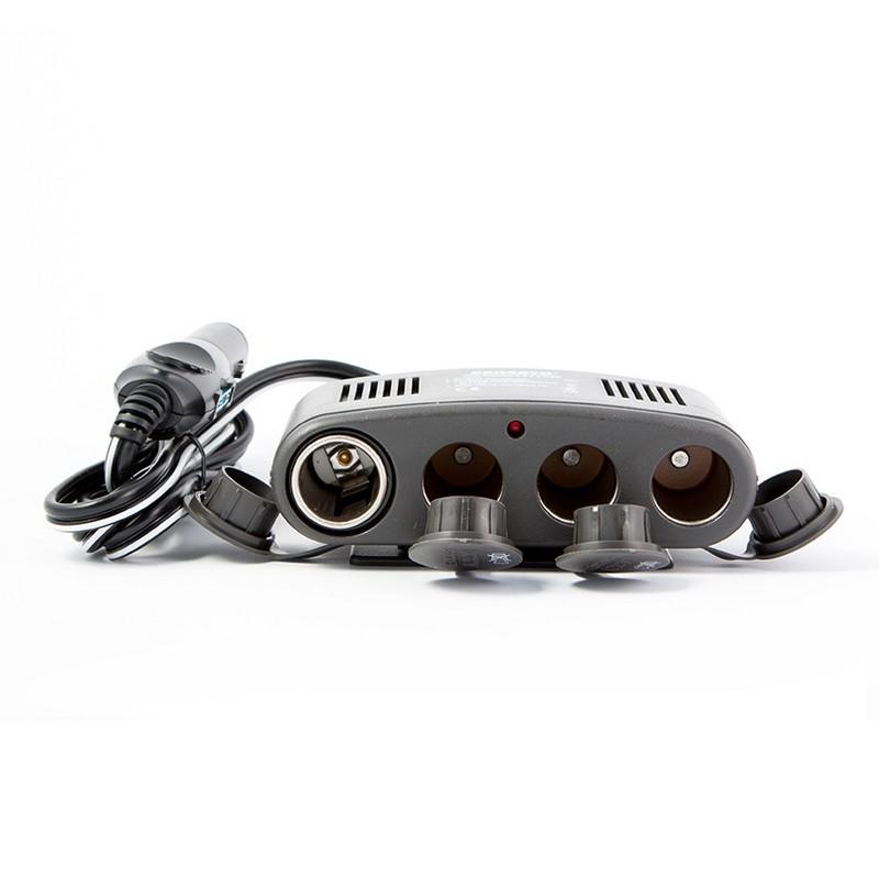Разветвитель прикуривателя BELAUTO 4 гнезда с USB 12В 10А (RP13)