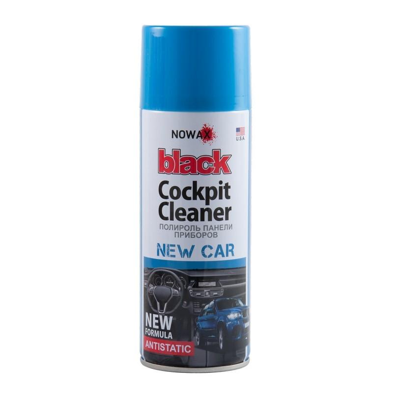 Полироль панели приборов NOWAX 450 мл Black Cockpit Cleaner NewCar (NX00455)