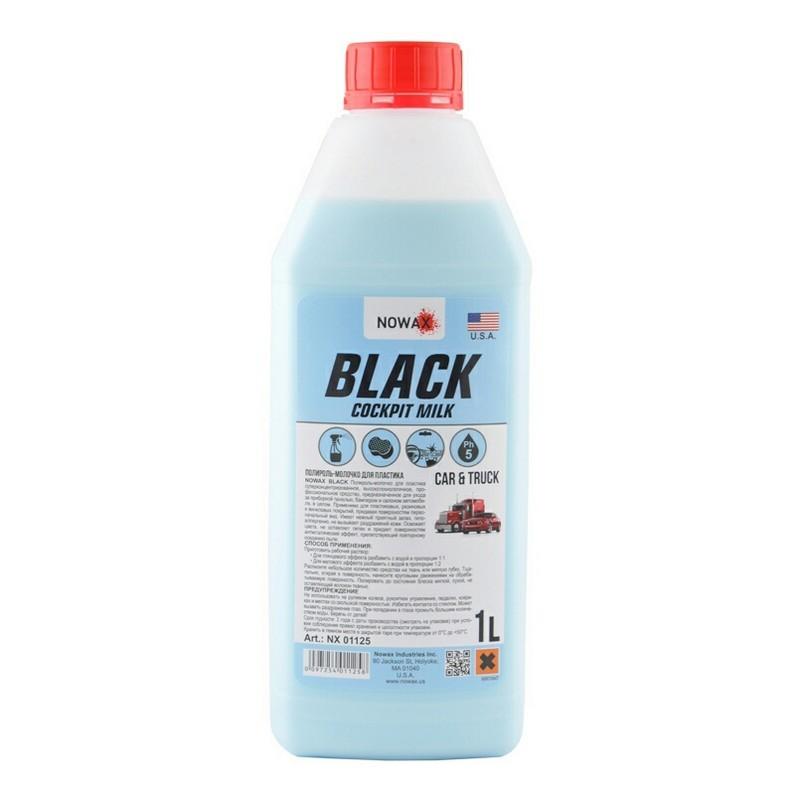 Полироль молочко для пластика 1 л NOWAX BLACK Cocpit Milk (NX01125)