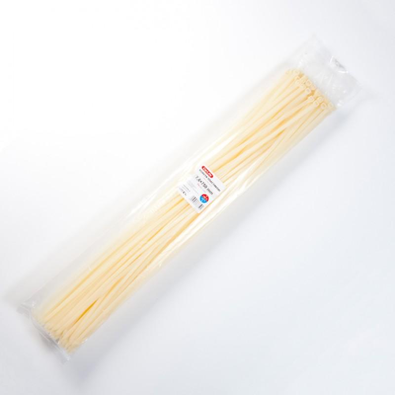 Хомуты пластиковые CARLIFE 7,6x750 мм Белые