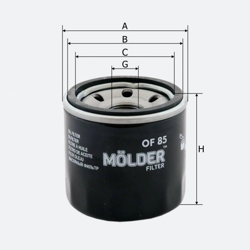 Фильтр масляный MOLDER аналог WL7200/OC195/W671 (OF85)