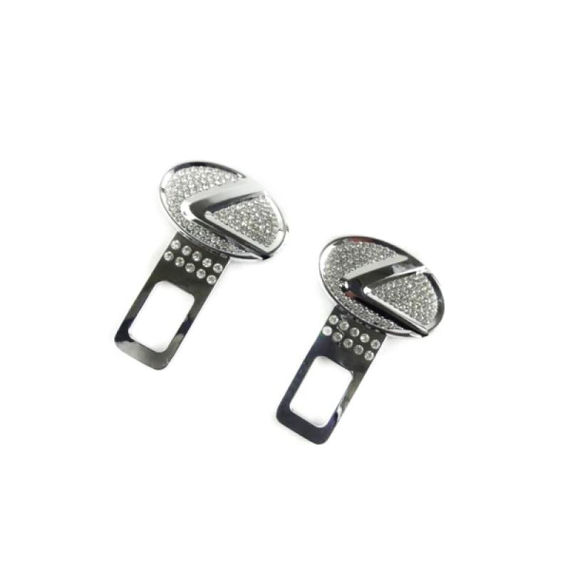 Заглушки металлические со стразами crystal_Lexus