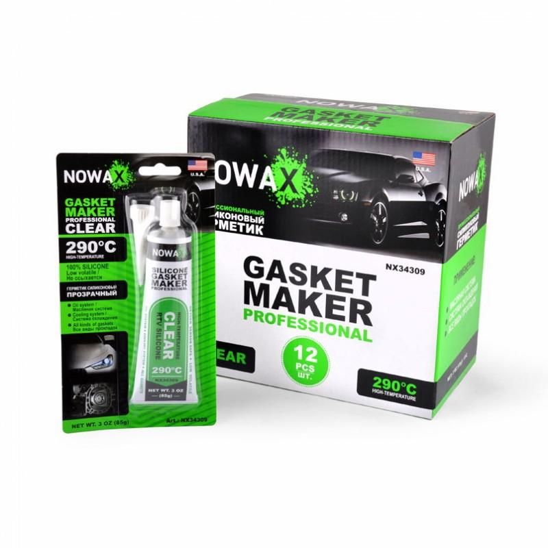 Прозрачный силиконовый герметик прокладок NOWAX Gasket Maker Clear