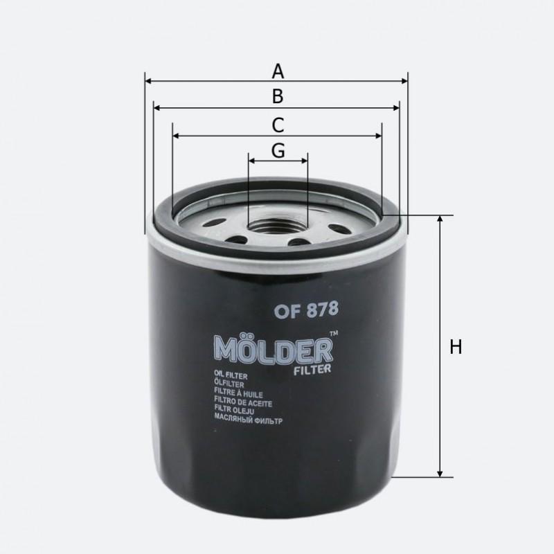 Маслянный фильтр MOLDER аналог WL7172/OC988/W71283 (OF878)