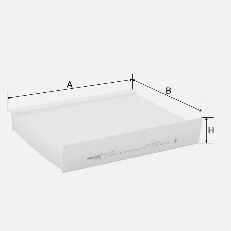 Салонный фильтр MOLDER аналог WP9130/LA144/CU2335 (LK34)