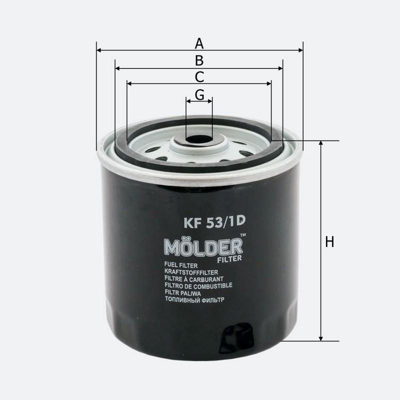 Топливный фильтр MOLDER аналог WF8048/KC63/1D/WK8173X (KF53/1D)