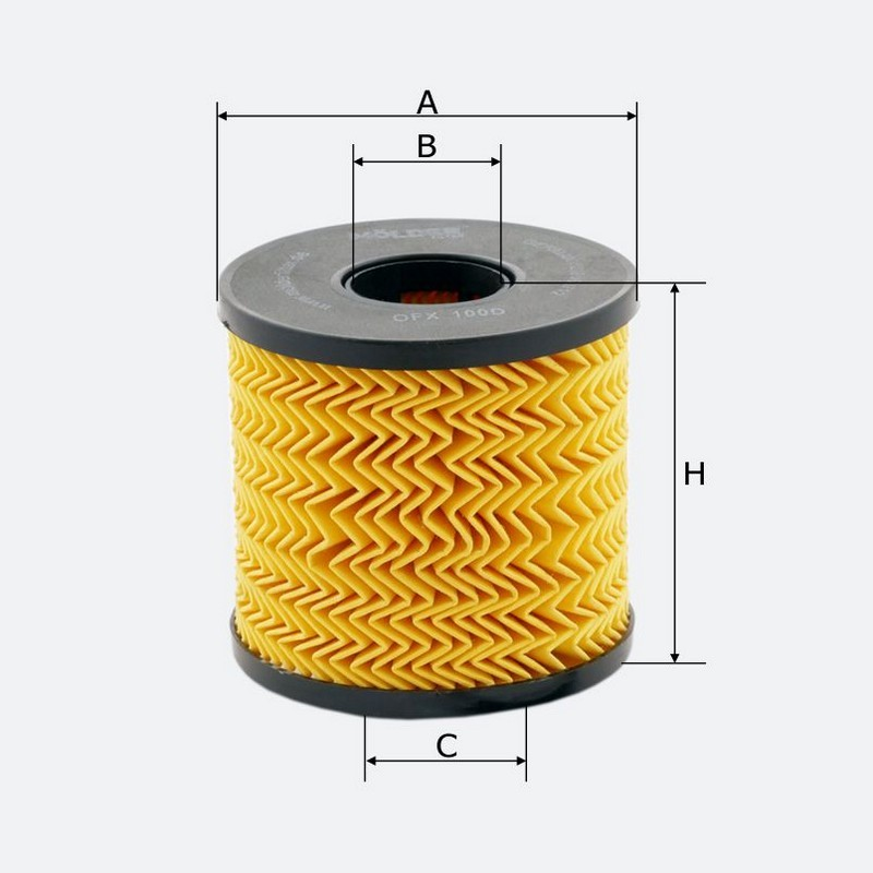 Масляный фильтр MOLDER аналог WL7306/OX210DE/HU923X (OFX100D)