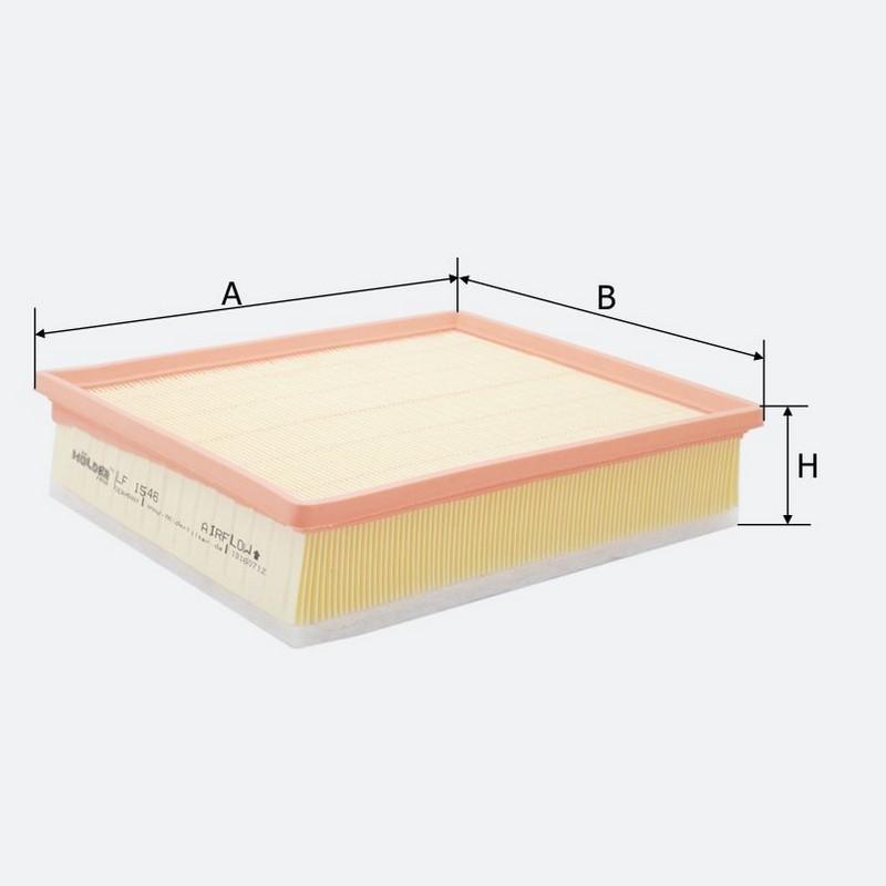 Воздушный фильтр MOLDER аналог WA9413/LX1656/C29168 (LF1546)