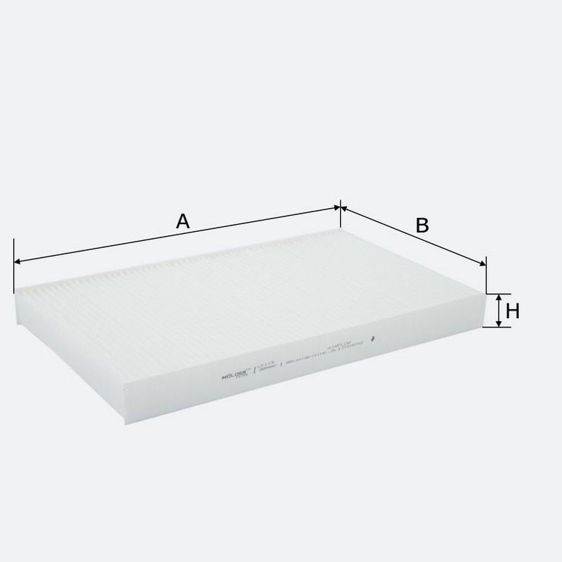 Салонный фильтр MOLDER аналог WP9222/LA229/CU3540 (LK119)