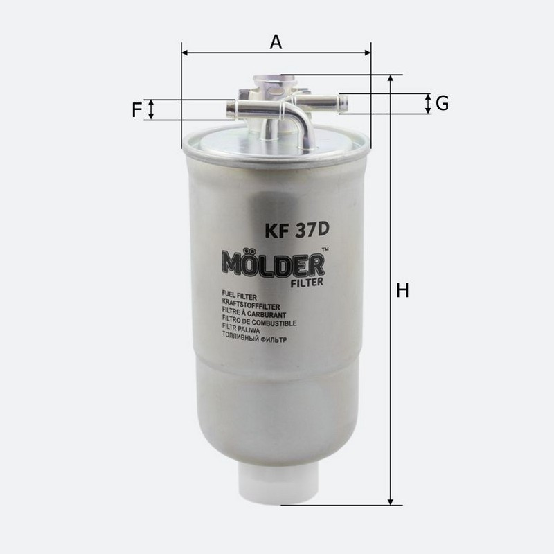 Топливный фильтр MOLDER аналог WF8046/KL147D/WK8533X (KF37D)