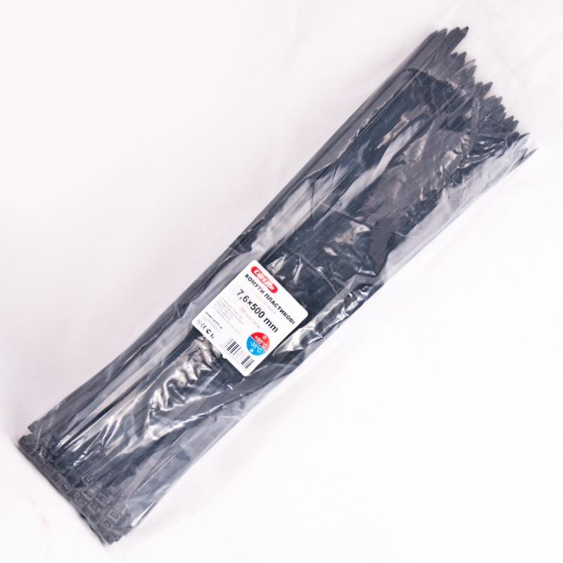 Хомуты пластиковые CARLIFE 7,6x750 мм Черные