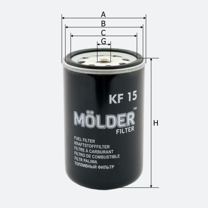 Топливный фильтр MOLDER аналог 33358E/KC24/WK723 (KF15)