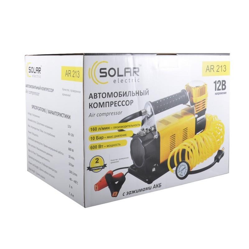 Компрессор Solar однопоршневой 160 л/мин с защитой от перегрева AR213