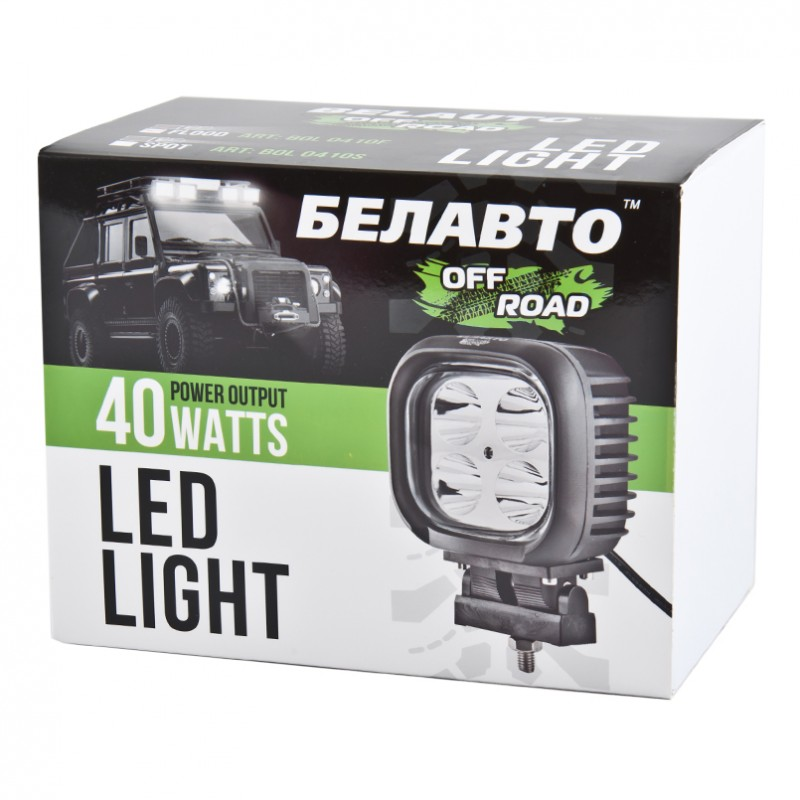 Доп LED фара BELAUTO BOL0410F 3200Лм (точечный)