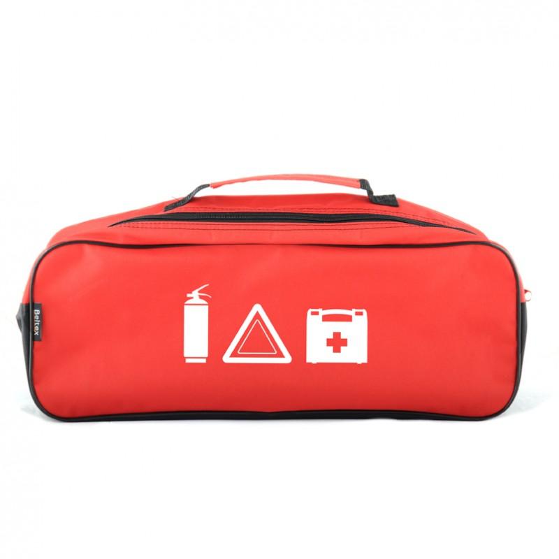 Сумка-органайзер в багажник красная полиэстер BELTEX без логотипа (SU1)