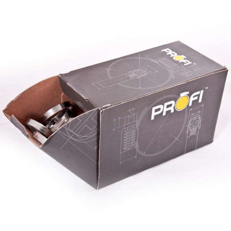 Хомут нержавеющий PROFI (W2) 90-110 мм
